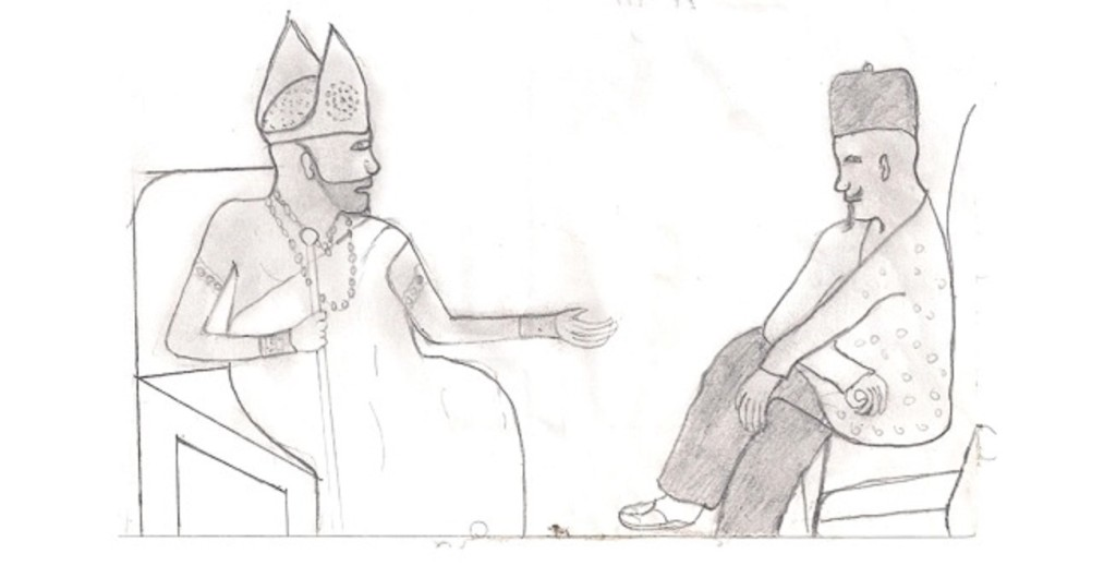 King Jaja advising Bature
